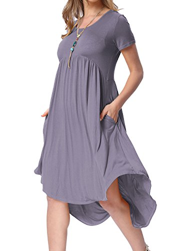 levaca Womens Summer Scoop Neck Flowy Casual Flared Party Dance Dress Daybreak M