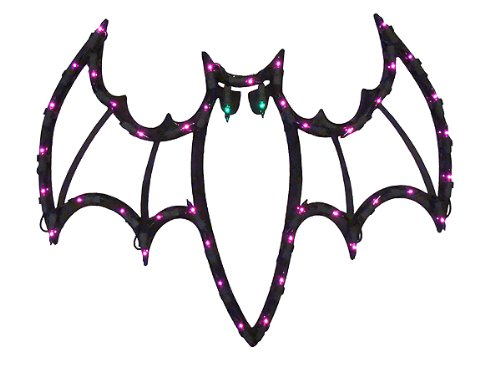 Impact Lighted Halloween Spooky Bat Window Silhouette Decoration, 18