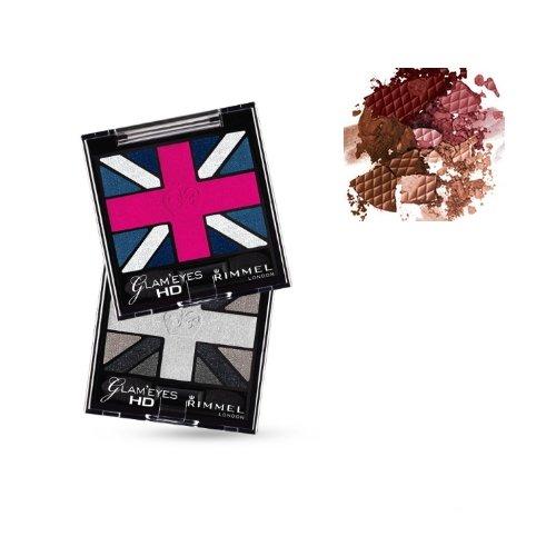Rimmel Glam Eyes HD Quad Eyeshadow 002 English Oak