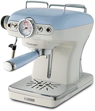 Ariete 1389 Azul-Cafetera espresso vintage, color, 900 W, 0.9 litros, plástico: Amazon.es: Hogar