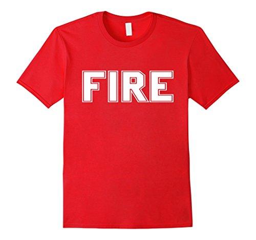 Mens Firefighter Halloween Costume T Shirt XL Red