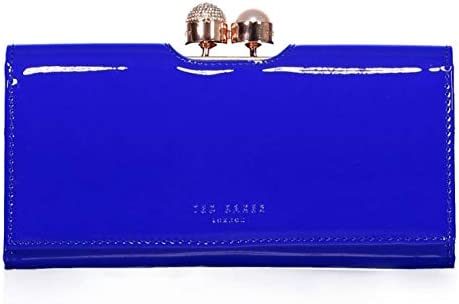 4f40ff324445e Ted Baker New Womens Large Bright Blue Bobble Leather Purse Wallet - Gift  Boxed  Amazon.co.uk  Luggage