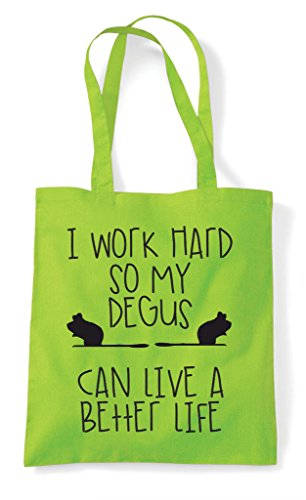 Shopper Work A Funny Themed Have Cute Lime Animal So I My Life Can Bag Degus Better Tote Hard adq0dwH4x