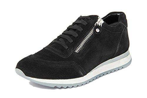 Arnaldo Toscani Donna - Sneaker in Pelle - 1099920_Camoscio_Nero