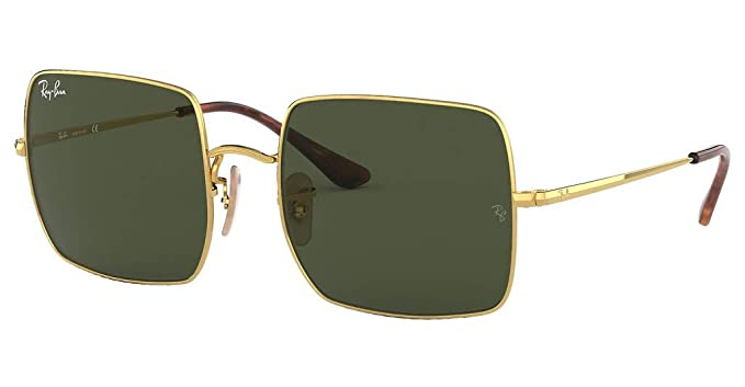 c27a4722d5 Image Unavailable. Image not available for. Color  Ray-Ban Square  Sunglasses Gold ...