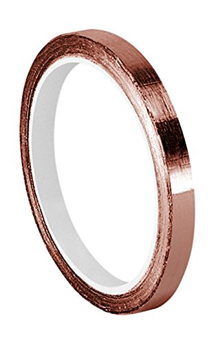 "TapeCase Copper Foil Tape with Acrylic Adhesive, Converted from 3M 1126, 6 yd Length, 0.125"" Width, Roll"