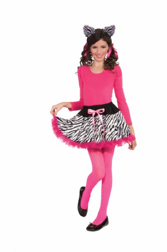 Forum Novelties Zebra Print Tutu and Headband, Child (Zebra Tutu With Headband)