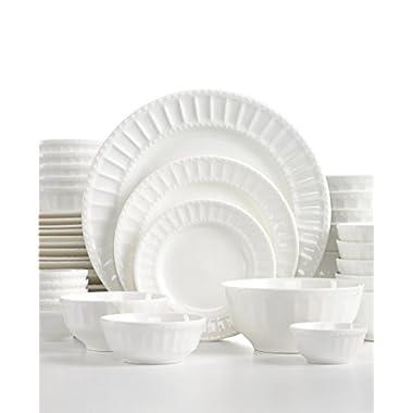 The Cellar Dinnerware, White Elements   Paloma Embossed   42 Piece Set