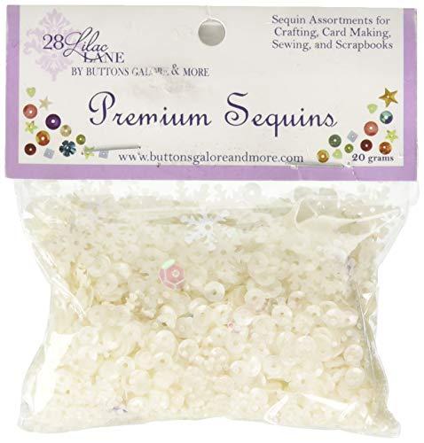 Buttons Galore PS711 28 Lilac Lane Premium Sequins 20g Snowflake, Multi ()