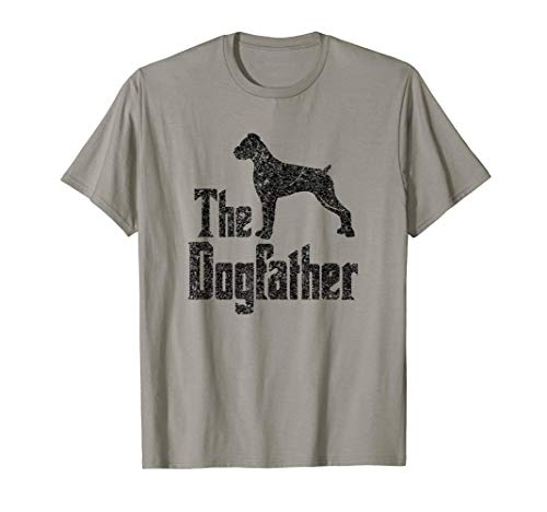 Boxer Dog Ears - The Dogfather T-Shirt Boxer uncropped ears funny dog gift