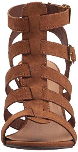 Qupid Women's Chamber-22 Heeled Sandal Maple yjLPZQ