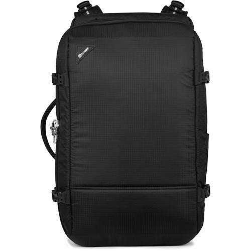 PacSafe Vibe 40 Liter Anti Theft Carry-On Backpack/Travel Bag-Fits 15 inch Laptop, Jet Black, One Size