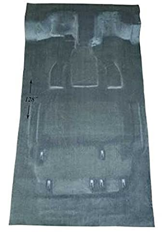 2005 to 2007 Chrysler Town and Country Van Carpet Custom Molded Replacement Kit, Stow and Go Model, Front Passenger Area (897-Charcoal Plush Cut - Country Van Carpet
