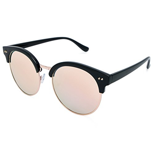 a137242b9b7de ... Fashion Mio 100 Pink Eyewear Men clubmaster Uv For Woman Protection  Mirrored And Sunglasses IrwOIq