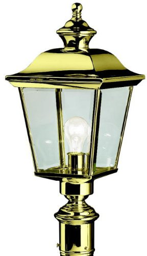 Kichler 9913PB Bay Shore Outdoor Post Mount 1-Light, Polished - Large Outdoor Brass Polished Post