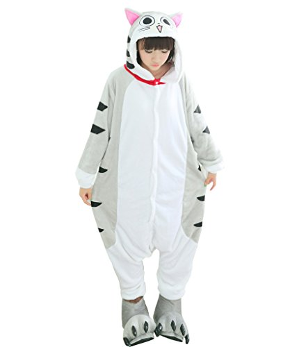 [Tricandide Adult Halloween Costume Cosplay Homewear Lounge Wear Cat S] (Cat Halloween Costumes For Teenage)