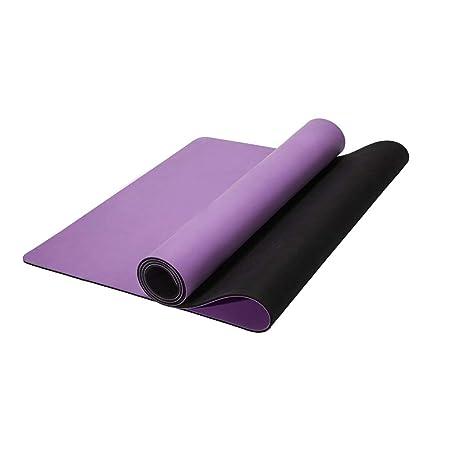 SHWSM Estera de Yoga 5mm Caucho Natural Estera de Yoga para ...