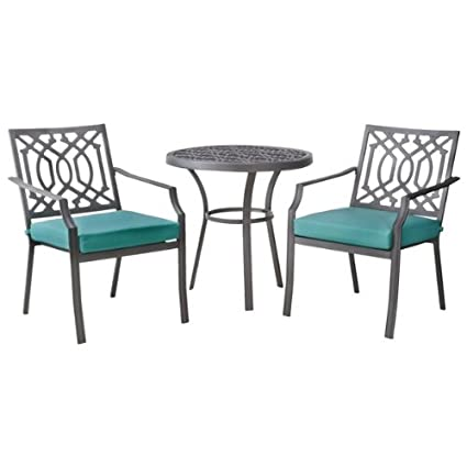 Amazon Com Patio Furniture Bistro Set Threshold Harper 3 Piece