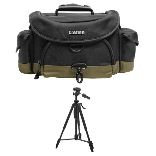 Canon 10EG Digital SLR Camera Case Gadget Bag + Deluxe Tripod for EOS 6D, 7D, 77D, 80D, 5D Mark II III IV, Rebel T6, T6i, T6s, T7i, SL1, SL2 by Canon