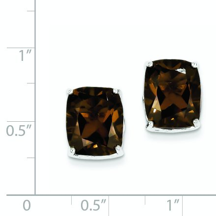 ICE CARATS 925 Sterling Silver Smoky Quartz Post Stud Ball Button Earrings Fine Jewelry Gift Set For Women Heart by ICE CARATS (Image #3)