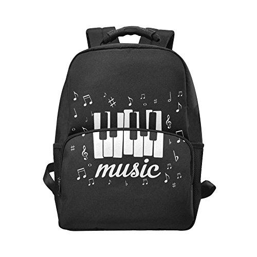 InterestPrint Music Note Piano Custom Casual Backpack School Bag Travel Daypack Gift