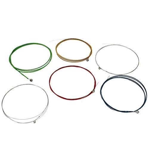 1 Set 6pcs Musical Instrument Accessories Colorful Acoustic Guitar Strings 1M