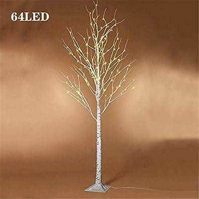 SUTIANZHANG 3 pies 64LED lámpara de pie Iluminado árbol de Abedul ...