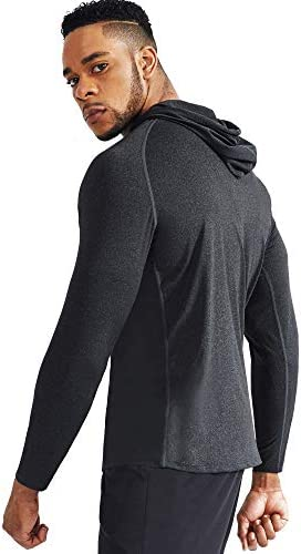 NELEUS MEN'S DRY FIT ATHLETIC WORKOUT RUNNING SHIRTS LONG SLEEVE