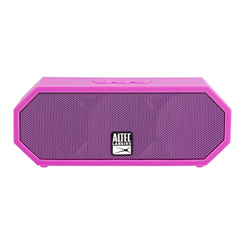 (Altec Lansing IMW457-PP-ECOM Jacket H2O 2 Bluetooth Speaker, IP67 Waterproof, Shockproof and Snowproof Rated and It Floats Rating, 8 Hours of Battery, Ultra Portable, Compact Design, Pink)