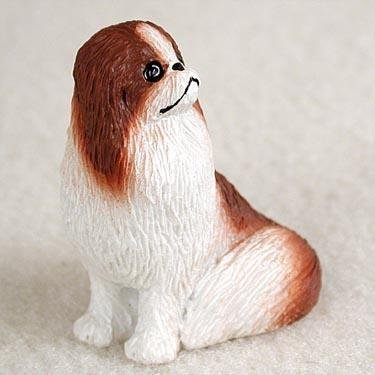 - Japanese Chin Red & White Tiny One Dog Figurine