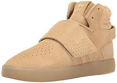 Adidas ORIGINALS Women's Tubular Invader Strap Running Shoe, Khaki Linen S, ((8.5 M US)