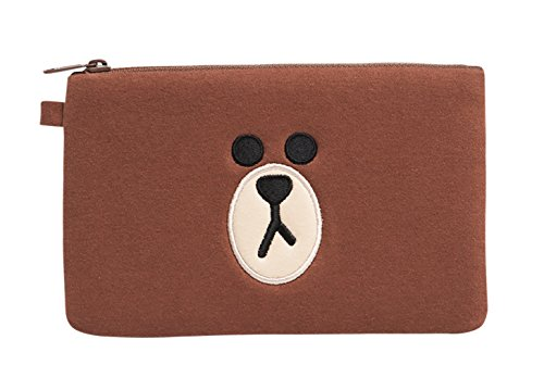 LINE FRIENDS Brown Makeup Pouch One Size Brown