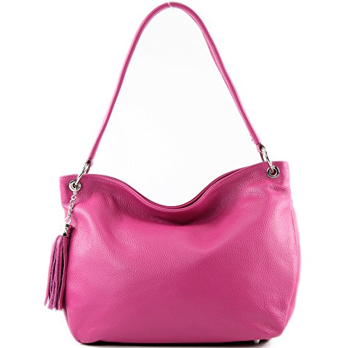 Bolsa De Modamoda Pink Genuino Piel T154 Funda Hombro Cuero wTInFSIqH