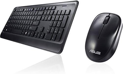 ASUS – Teclado y ratón negros inalámbricos W2000