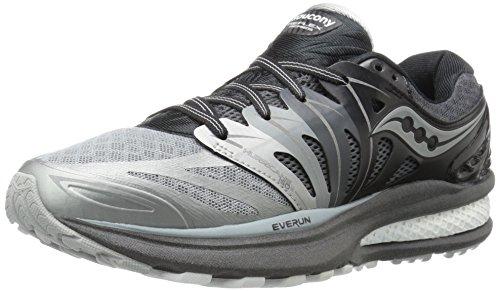 Saucony Women's Hurricane ISO 2 Refl Running Shoe, Grey/White, 7.5 M US