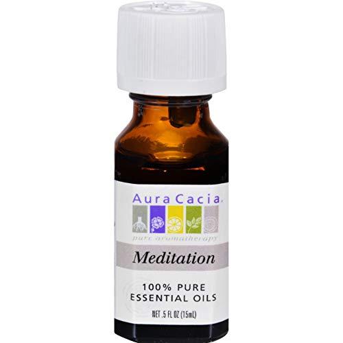 Aura Cacia 100% Pure Aromatherapy Meditation Essential Oil - 0.5 Oz