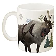 Zak! Designs Ceramic Mug with Olaf and Sven from Frozen, 12.5-Ounce