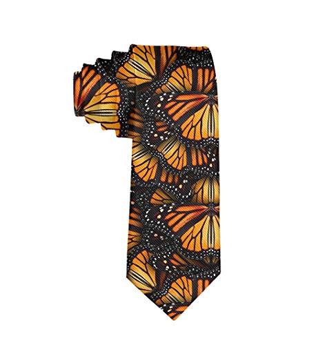 Monarch Butterflies Classic Men Silk Tie Woven Jacquard Neck Ties