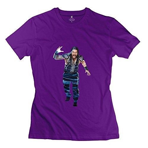 StaBe Women's Roman Reigns T-Shirt Short Sleeve Vintage M Purple