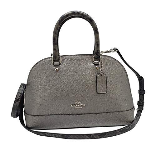 Coach Women's Signature Mini Sierra Satchel No Size (SV/Gunmetal) (Coach Handbags Embossed)