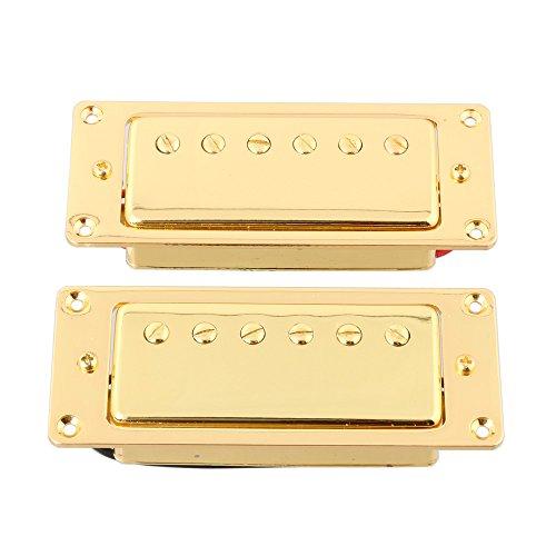 - LYWS Gold Sealed Mini Humbucker Pickup Set Bridge and Neck Pickup For Gibson Les Paul LP Guitar