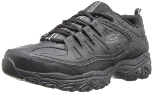 Skechers  Men's After Burn Memory Fit - Reprint Shoe,Black,9.5 M US