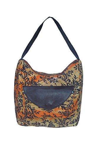 Spice Art Women's Orange Canvas Shoulder Bag