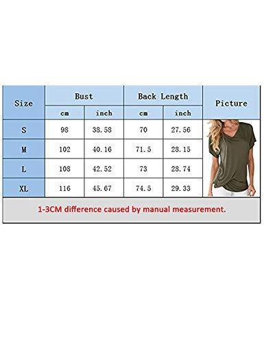 T Mode Femme Gr Uni Manches T Confortable Slim Fille Manche Cou Shirts Classique lastique Shirts V Branch Et Courtes lgant Shirt Fit Plier Irrgulier Top AtEAr