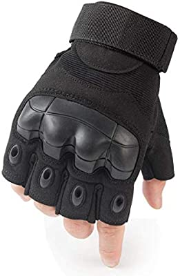 Men/'s Half-finger Finger less Outdoor Sports Working Gloves Camping Hiking Cross