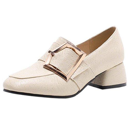 Chaussures abricot et épais femmes talons à talons mode TAOFFEN pour UFOCdqwq