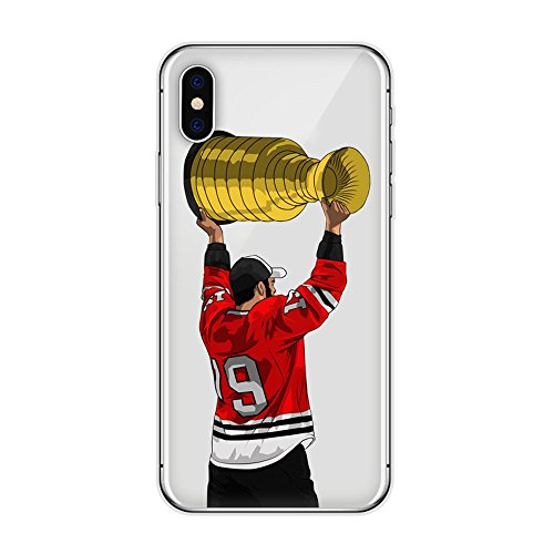 - iPhone 6 / 6S Hockey Player Protective Case Soft Silicone Transparent Thin TPU (09)