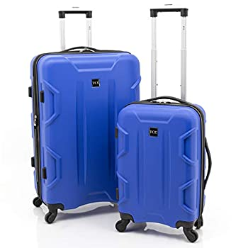 Image of Travelers Club Luggage Camden 2pc 28'/ 20' Abs Exp.Spinner, Blue Luggage Set 2 PC Pieces Luggage