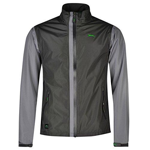 Slazenger Mens Waterproof Golf Jacket Lightweight Chin Guard Full Zip Top Charcoal Large by Slazenger