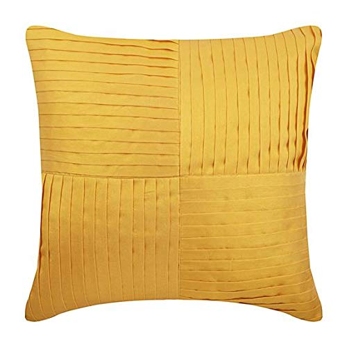 - The HomeCentric Decorative Pillow Covers 14 x 14 inch Yellow, Silk Throw Pillow Covers, Handmade Pillow Covers, Solid Color Pillow Covers, Modern Pillow Covers - Yellow Joy